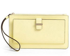 Kate Spade Leather Ceder Street Lacy Lemondand Clutch