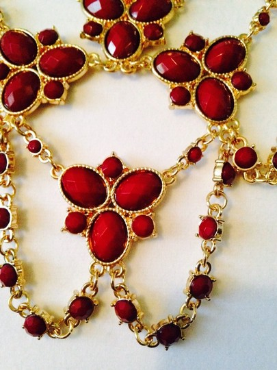 Amrita Singh 2-Piece Set, Red Faceted Bib Statement Necklace & Earring Set