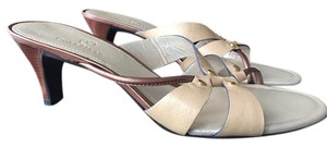 Cole Haan Leather Sandal Neutral New Soft Gold Sandals