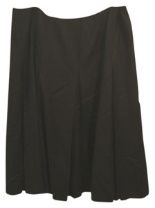 Talbots Pleated Workwear Skirt Black