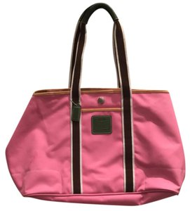 Coach Pink/Brown Travel Bag