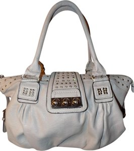 Studded Rivets Sparkle Tote in Gray