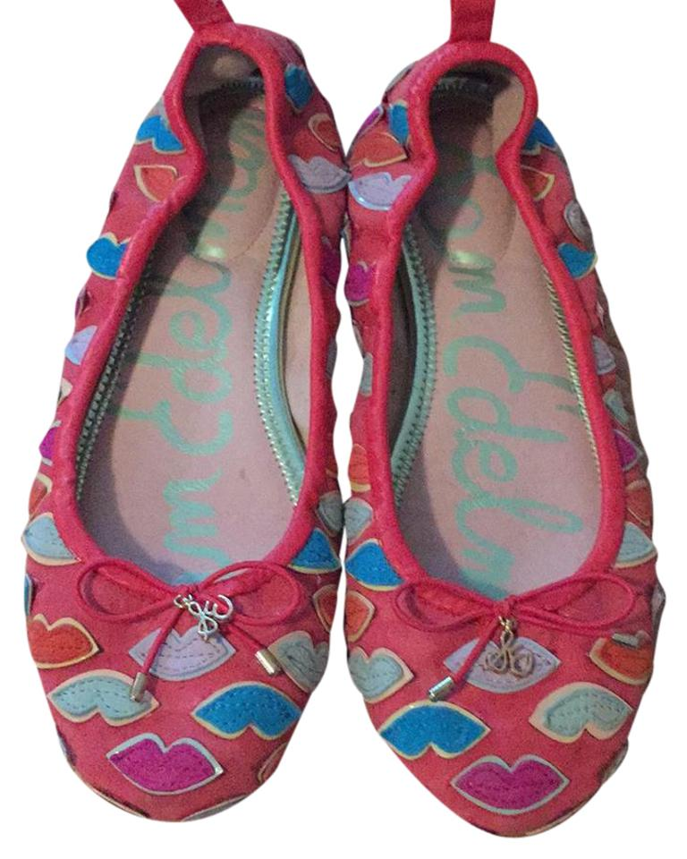 Light Pinky Brown Lip Makeup: Sam Edelman Coral Suede With Teal, Light Pink, Hot Pink