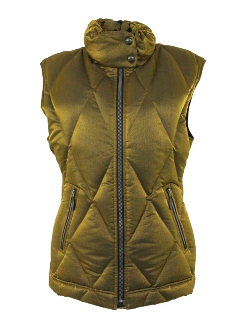 Item - Gold Down Fitted Vest Size 4 (S)