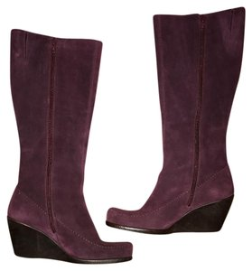 Aerosoles Wine Wedge Leather Boots