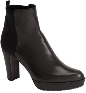 Stuart Weitzman Italian-leather Crafted In Spain Microstretch Panel Stretch Black Boots