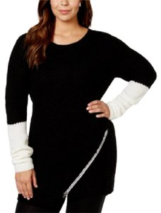 Extra Touch Plus-size Trendy Cable-knit Artsy Slimming Sweater