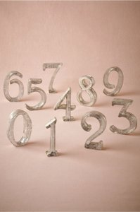 Mercury Glass Table Numbers From Bhldn