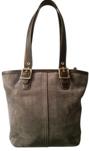 Coach Vintage Suede Leather Tote in brown/green