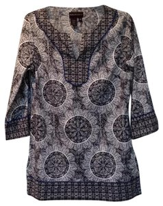 Dana Buchman V-neck Cotton 3/4 Sleeve Tunic