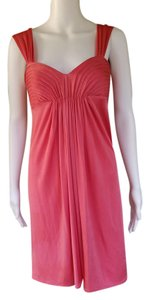 BCBGMAXAZRIA Silky Pleated Sleeveless Dress