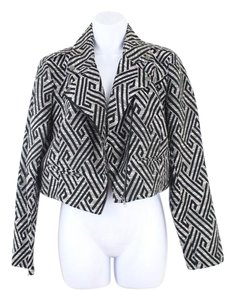 Forever 21 Aztec Textured Patterned Motorcycle Cropped Motorcycle Jacket