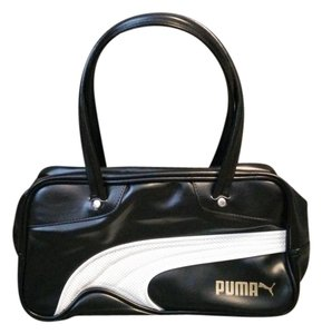 Puma Faux Leather Tote in Black