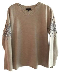 J.Crew Embellished Floral Crew Sweater