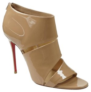 Christian Louboutin Cachottiere 40 Bootie Cutout Nude Boots