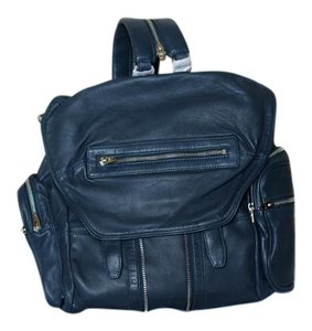 Alexander Wang Leather Silver Hardware Backpack