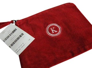 Pottery Barn New Pottery Barn Solid Velvet Union Street Pouch Monogrammed K