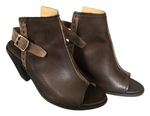 Frye Leather Sling Charcoal- brown gray Boots