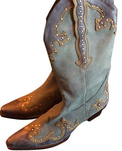 Gianni Bini Blue teal multi color Boots