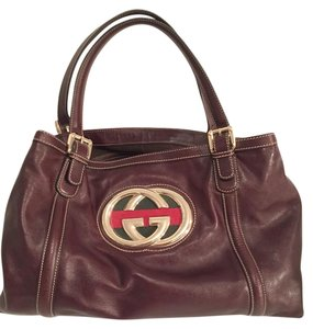 Gucci Tom Ford Calfskin Gg Tote in Brown