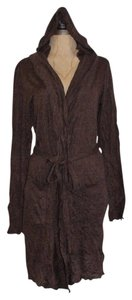 Anthropologie Crinkled Hooded Long Hazel Cardigan