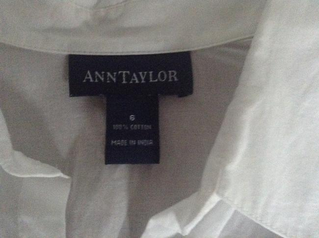 Ann Taylor Button Down Shirt White cotton