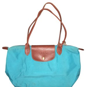 Longchamp Tote in Turquoise