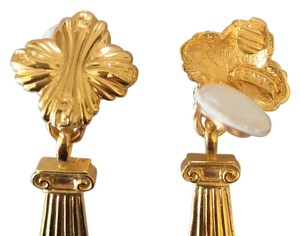 Fendi Fendi gold plate earrings