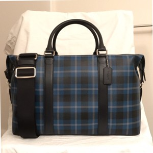 Coach Duffle Cross Body New/nwt Men's Black Blue Gray Travel Bag