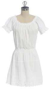 Anthropologie short dress WHITE Embroidered Romantic on Tradesy