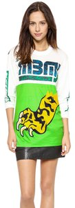 Marc by Marc Jacobs Boyfriend Sporty Skater Bright Contrast T Shirt Snap Pea Multi