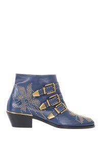 Chloé Chloe Leather Ankle Blue Boots