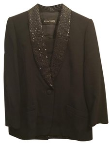 Ellen Tracy Ellen Tracy Black Sequin Blazer + Skirt + Tank