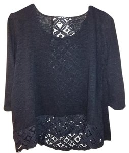 Cable & Gauge Large Lace Sweater