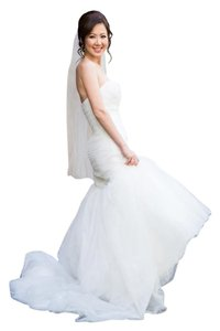 St. Patrick Ivory Tulle Zine (Mermaid Feminine Wedding Dress Size 2 (XS)