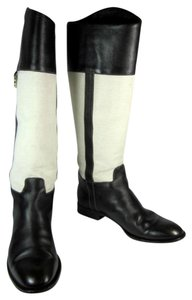 Gucci Leather Gg Tall Riding Boots