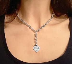 Tiffany & Co. Gorgeous Return To Tiffany & Co Dangle Heart Necklace