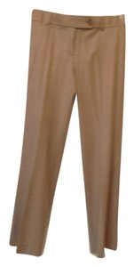 Ann Taylor LOFT Trouser Pants Tan brown check