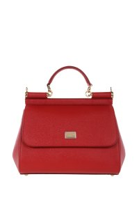Dolce&Gabbana Dolce And Gabbana Leather Satchel in Red
