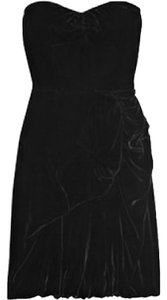Marc by Marc Jacobs Velvet Strapless Sweetheart Ruched Dress