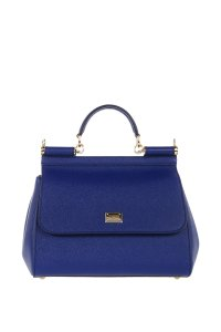 Dolce&Gabbana Dolce And Gabbana Leather Satchel in Blue