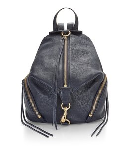 Rebecca Minkoff Leather Blue Gold Julian New With Tags Backpack