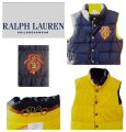 Polo Ralph Lauren Navy/Yellow Boys Reversibile Crested Puffer 8-10 Vest Size OS (one size) Polo Ralph Lauren Navy/Yellow Boys Reversibile Crested Puffer 8-10 Vest Size OS (one size) Image 1
