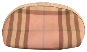 Burberry Burberry pink check cosmetic case