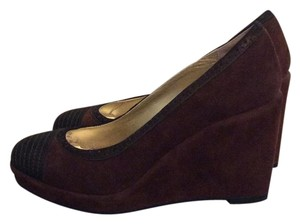 Eileen Fisher Brown/Black Wedges
