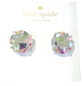 Kate Spade Kate Spade Large Gumdrop Earrings, Clear Crystal Iridescent Studs NWT