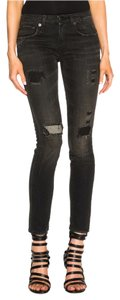 R13 Distressed Rocker Skinny Jeans-Distressed