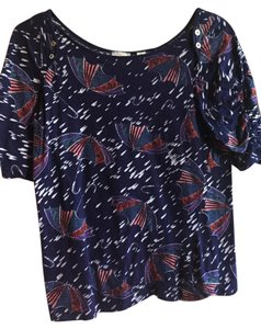 Anthropologie Soft Casual T Shirt Midnight Blue