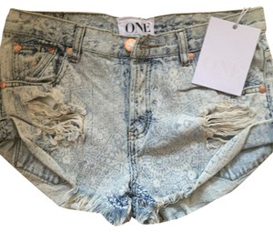 One Teaspoon Denim Shorts-Distressed