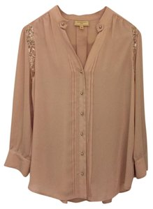 Moulinette Soeurs Anthropologie Top Light Pink